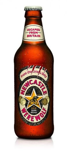 Cerveja Newcastle Werewolf, estilo Extra Special Bitter/English Pale Ale, produzida por Caledonian Brewing, Inglaterra. 4.5% ABV de álcool.
