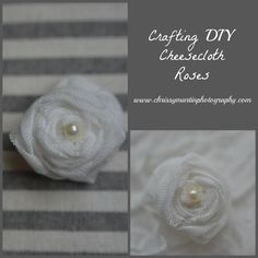 DIY Props: Cheesecloth Roses | Chrissy Martin Photography