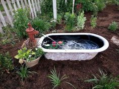 Old bathtub into garden pond 10 Creative Ideas to Reuse & Recycle Bathtub (Pictures) Source by zvonkomarojevi The post 10 Creative Ideas to Reuse & Recycle Bathtub (Pictures) appeared first on Mack Makeovers. Garden Bathtub, Old Bathtub, Bathtub Cover, Bathtub Ideas, Ponds Backyard, Backyard Landscaping, Backyard Waterfalls, Garden Ponds, Landscaping Ideas