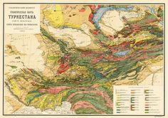 Mouchketof 1925 Carte Geologique de Turkestan