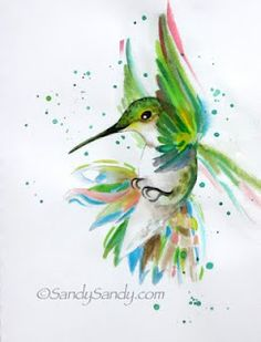 *SANDY SANDY ART*: HUMMINGBIRDS!! HUMMINGBIRDS!! Original Watercolors by Sandy Sandy ~ http://www.sandysandyart.com/2012/04/hummingbirds.html