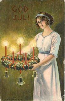 Christmas Postcard by Jenny Nyström from 1919.