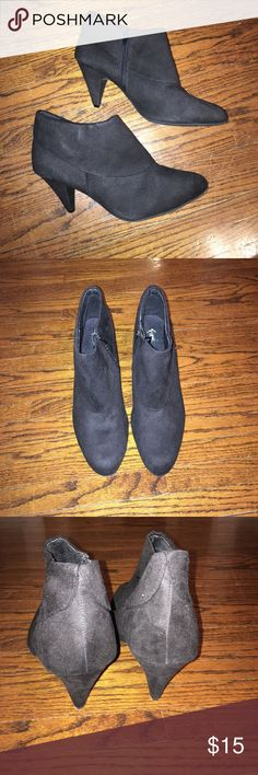 """Black bootie heels Women's size 13 wide. Have about a 2 1/2"""" heel. Only worn once! In great condition. Shoes Ankle Boots & Booties"""