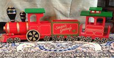 Vintage Christmas Music Box Wooden Train San Francisco Music Box Company