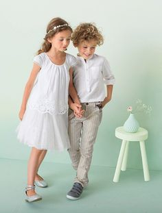 #Blusa de #cerimónia em voile e com #bordado, para menina