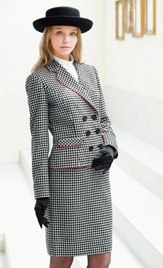 Houndstooth Skirt Suit                                                                                                                                                                                 More