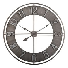 Carbon Loft Maunchly Metal Industrial Wall Clock – X X - Wanduhr Vintage Industrial Decor, Industrial Living, Industrial Loft, Industrial Design, Industrial Windows, Kitchen Industrial, Industrial Apartment, Industrial Bedroom, Industrial Table
