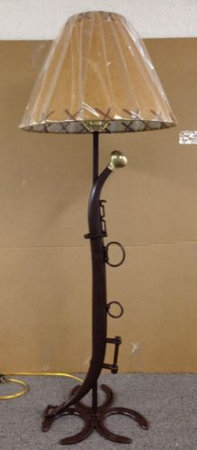 Horse Shoe and hame Table Lamp Without Lamp Shade Western Rustic Country | eBay