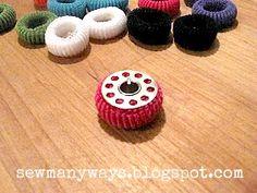 Keep stored bobbins from unwinding -   Sew Many Ways...: Thread Organizing