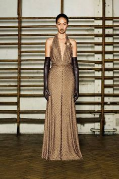 Couture 2012: Givenchy  I like the dress but am not sure what is going on with the weird lip dressing.