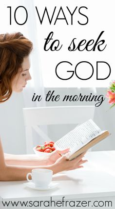 Rise to a new day and a quiet time with God! Here's practical ways you can make your quiet time a reality and how to meet with God in the morning. Discover practical Bible study tips to jump start your spiritual growth! Christian Living, Christian Faith, Christian Women, Praise And Worship Music, Connecting With God, Sermon Notes, Bible Study Tips, God Will Provide, Writing Challenge
