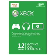 Xbox LIVE 12 Month Gold Membership [Online Game Code]: $49.79