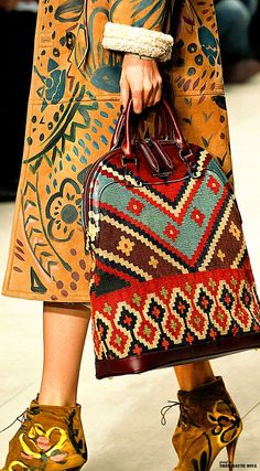 Burberry Prorsum Autumn/Winter 2014-15 Ready-To-Wear Follow our link to see all of our unique hand painted crafted leather handbags and backpacks on etsy.