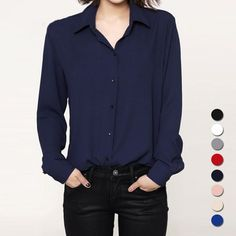 Tom Ford said it best...Dressing well is a form of good manners: Fashion casual to...   Check it out here! http://www.simplymorgans.com/products/fashion-casual-tops-long-sleeve-chiffon-shirt?utm_campaign=social_autopilot&utm_source=pin&utm_medium=pin