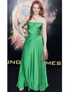 Jacqueline Emerson/fox face in the hunger games love her dress<3
