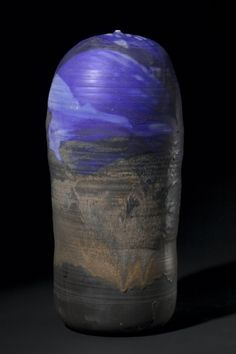 Cobalt Blue Form, Toshiko Takaezu (American, porcelain, Diameter - cm inches) Overall - cm inches). Toshiko Takaezu, Cleveland Museum Of Art, Japanese Pottery, All Things Purple, Sculpture Clay, Ceramic Artists, Wood And Metal, Ceramic Pottery, Cobalt Blue