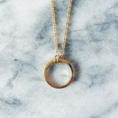 Large Gold Eternity Circle Necklace