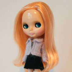 New to AnneArchy on Etsy: Blythe doll Katie Cardigan Sweater knitting PATTERN - mohair cardi for Neo Blythe - instant download - permission to sell finished items (7.00 USD)