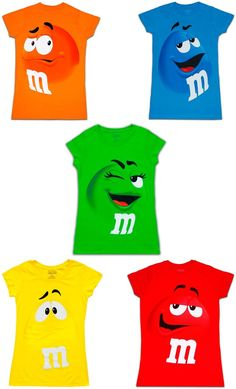Chocolate Drawing, Stencil Logo, M&m Characters, Candy Costumes, M M Candy, Crazy Things To Do With Friends, Vinyl Shirts, Halloween Disfraces, Baby Birthday