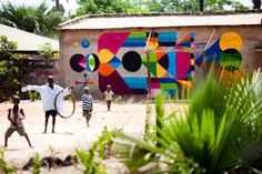 Wide Open Walls is an initiative of Lawrence Williams, one of the owners of the Makasatu conservation project at Mandina in The Gambia