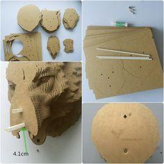 rhino trophy diy cardboard kit deko und t rschmuck aus holz und papier pinterest. Black Bedroom Furniture Sets. Home Design Ideas