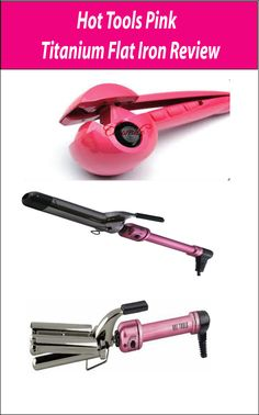 Hot Tools Pink Titanium Flat Iron is one best flat iron in the market; it's very easy for you to create any look you want. Hot Tools Pink Titanium Flat Iron