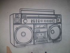 Image gallery for : boom box tattoo
