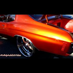 video clip of kandy orange 72 39 chevelle ss on 24 bonspeed sweeps atl atlanta custom door. Black Bedroom Furniture Sets. Home Design Ideas