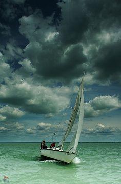 sailboat# Lake Balaton# Hungary#clouds#wind