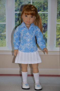Blouse and Skirt for Kidz n Cats doll . by Symidollsclothes
