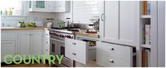 The kitchen is often the heart of the home, and there is nothing more heart-warming than the country trend. New technology with a touch of vintage is encapsulated in an upright cooker, which is ideal for preparing Sunday roasts for the family. Appliances such as a built-in rangehood or refrigerator can be cleverly disguised behind your custom cabinetry, while wine cabinets offer a sophisticated option for storing beverages.