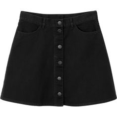 Monki | Skirts | Mary twill skirt (6.240 RUB) ❤ liked on Polyvore featuring skirts, retro skirt, monki, checkered skirt, knee length a line skirt and button front skirt