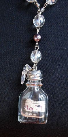 Soldered bottle necklace