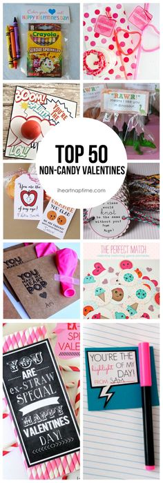 50 non-candy Valentine ideas! Top 50 non-candy Valentines on -so many cute ideas!Top 50 non-candy Valentines on -so many cute ideas! Valentines Bricolage, Kinder Valentines, Valentine Day Love, Valentines Day Party, Valentine Day Crafts, Holiday Crafts, Holiday Fun, Valentine Ideas, Printable Valentine