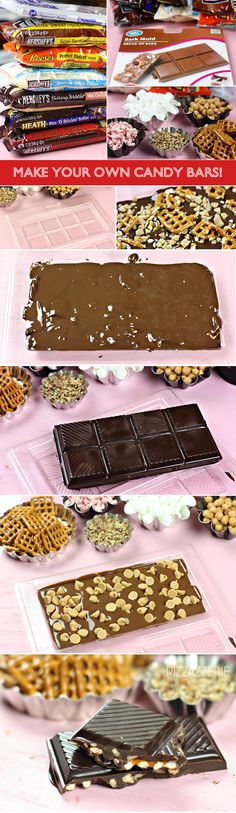 Genius gifting idea: Create custom candy bars with this holiday tutorial from our friend, Courtney Whitmore. Holiday Candy, Christmas Candy, Christmas Treats, Christmas Baking, Holiday Treats, Yummy Treats, Delicious Desserts, Sweet Treats, Dessert Healthy