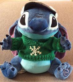 591ad7c1775 Lilo Stitch Disney Store Plush Stuffed Alien 626 Snowflake Sweater Fur Hat  12