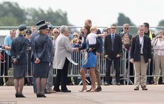 7/8/16.   The Duke and Duchess of Cambridge arrived at the Royal International Air Tattoo with Prince George - who later broke down in tears before being swept up by his mother