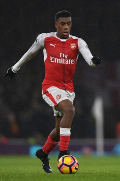 4217c50a86c Alex Iwobi of Arsenal in action during the Premier League match between  Arsenal and Watford at