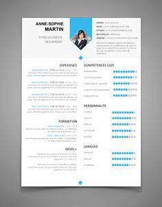 CV 16 - CV à télécharger | Maxi CV Free Cv Template Word, Best Resume Template, Resume Design Template, Sample Resume, Professional Resume Examples, Free Resume Examples, Curriculum Vitae Template Free, Cv Simple, 2017 Word