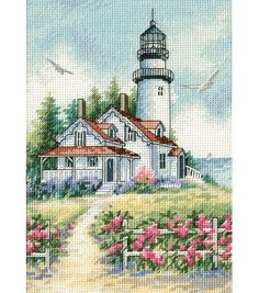 Dimensions Gold Collection Petite Scenic Lighthouse Cntd Cross Stitc