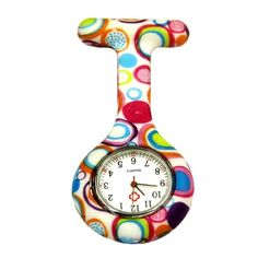 2017 New Colored Circles Nurse Watch Clip-on Fob Brooch Pendant Hanging Pocket Watch Special Charmin Relogio