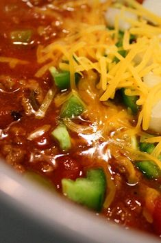 "Touchdown Chili | ""I LOVE this one because it has the same fantastic taste and so much less work!"" #footballrecipes #gamedayrecipes #tailgatingrecipes #superbowlrecipes #superbowlparty #superbowlpartyideas"
