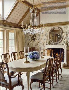 David Easton ~ dining room in Aspen home