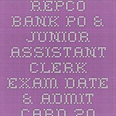 REPCO Bank PO & Junior Assistant Clerk Exam Date & Admit Card 2015 | Indiaexamupdate.in