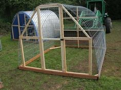 Hoop Coop/Chicken Tractor. You could cover with clear plastic for a greenhouse.