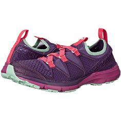 Salomon Crossamphibian (Rain Purple/Cosmic Purple/Hot Pink) Women's... (96 CAD) ❤ liked on Polyvore featuring shoes, athletic shoes, purple, slip-on shoes, slip on shoes, purple shoes, salomon athletic shoes and lace shoes