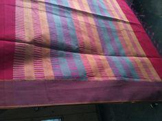 silk by cotton whith reshm bordar saree Cotton Saree, Sarees, Silk, Classic, Derby, Classic Books, Silk Sarees