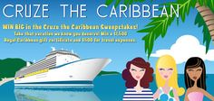 Win BIG in the Cruze the Caribbean sweepstakes! Take that vacation you deserve! Win a $1,500 Royal Caribbean gift certificate and $500 for travel expenses. -  https://www.facebook.com/midatlanticchevygirls