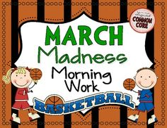 This set of printable worksheets includes 20 cut and paste basketball themed math & language arts worksheets that can be used during the month of March for independent practice to reinforce skills you have been teaching. All of the skills are aligned with the Common Core Standards.