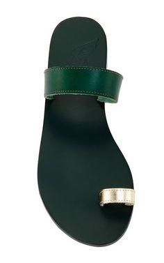 9b1e4cb010ac41 Thalia Sandals in Green Vachetta by Ancient Greek Sandals Cute Sandals